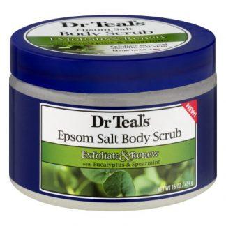 Dr Teal's Epsom Salt Body Scrub - Exfoliate & Renew with Eucalyptus & Spearmint